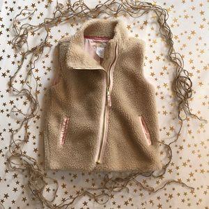 Crewcuts faux shearling vest